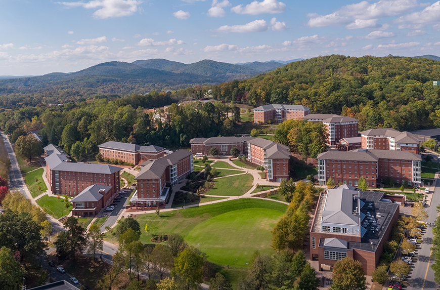 Aerial View of New Dorms